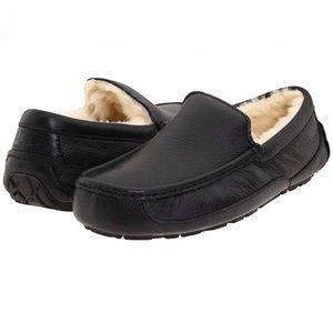 UGG Men's Ascot Grain Leather Loafer Slipper Sz 12
